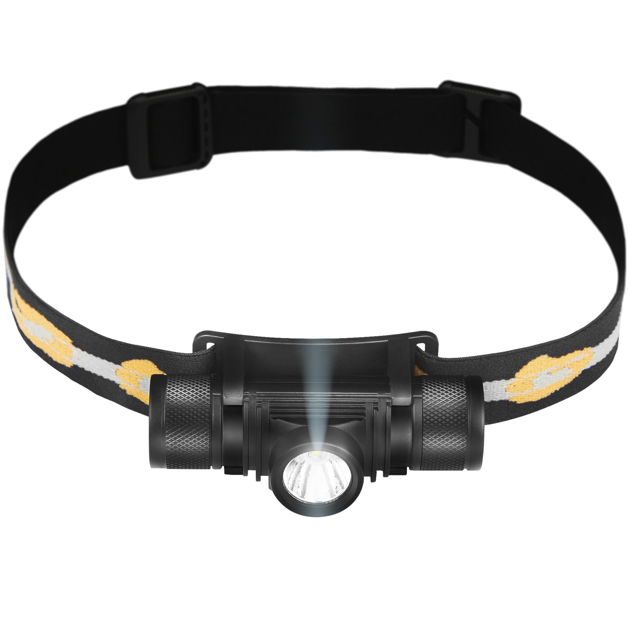 Phonar 500 Lumen Rechargeable LED Headlamp w/ 2200 mAh Battery - Durable, Waterproof and Dustproof Headlight - Amazing 220-yards Beam - Works as Camping and Hiking Gear
