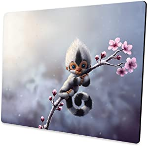 Shalysong Cute Animal Monkey Mouse pad Computer Mouse pad with Design Personalized Mouse pad for Laptop Computer Office Decoration Accessories Gift…