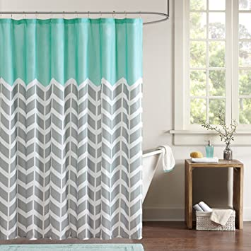 Amazon.com: Intelligent Design ID70-365 Nadia Shower Curtain 72x72 ...