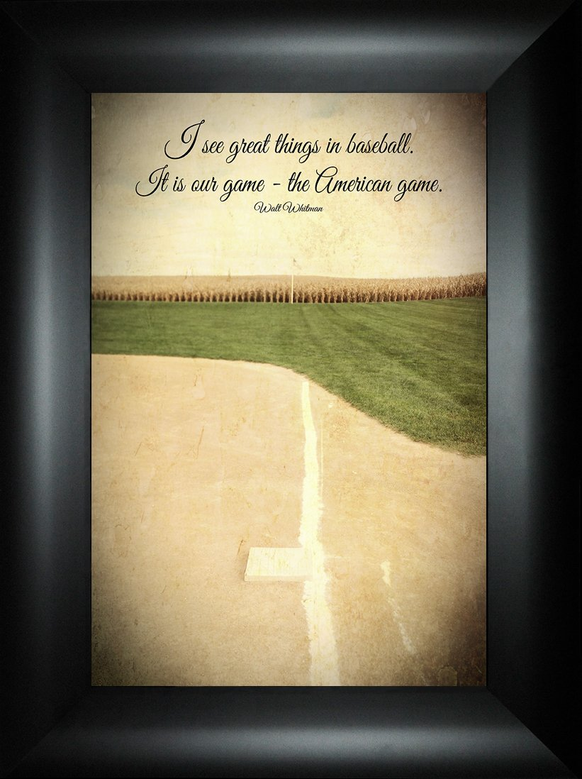 Amazon.com: The American Game By Todd Thunstedt 24x18 Baseball Ball ...