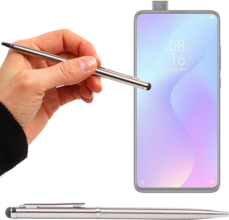 DURAGADGET Lápiz Stylus Plata + Bolígrafo (2 En 1) Compatible con Smartphone Xiaomi Mi 9T Pro, REALME 5, REALME 5 Pro: Amazon.es: Electrónica