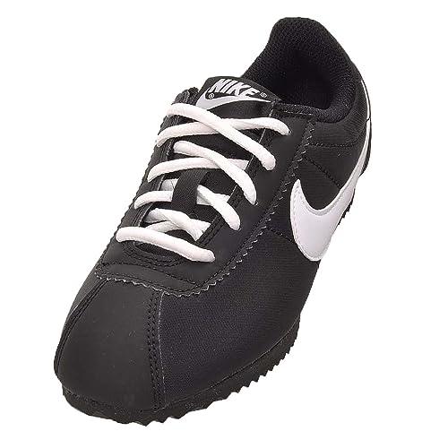 huge discount 4c46f 9faba Nike Cortez Nylon (PS), Zapatillas de Running para Niños, Blanco (Black White),  31 1 2 EU  Amazon.es  Zapatos y complementos