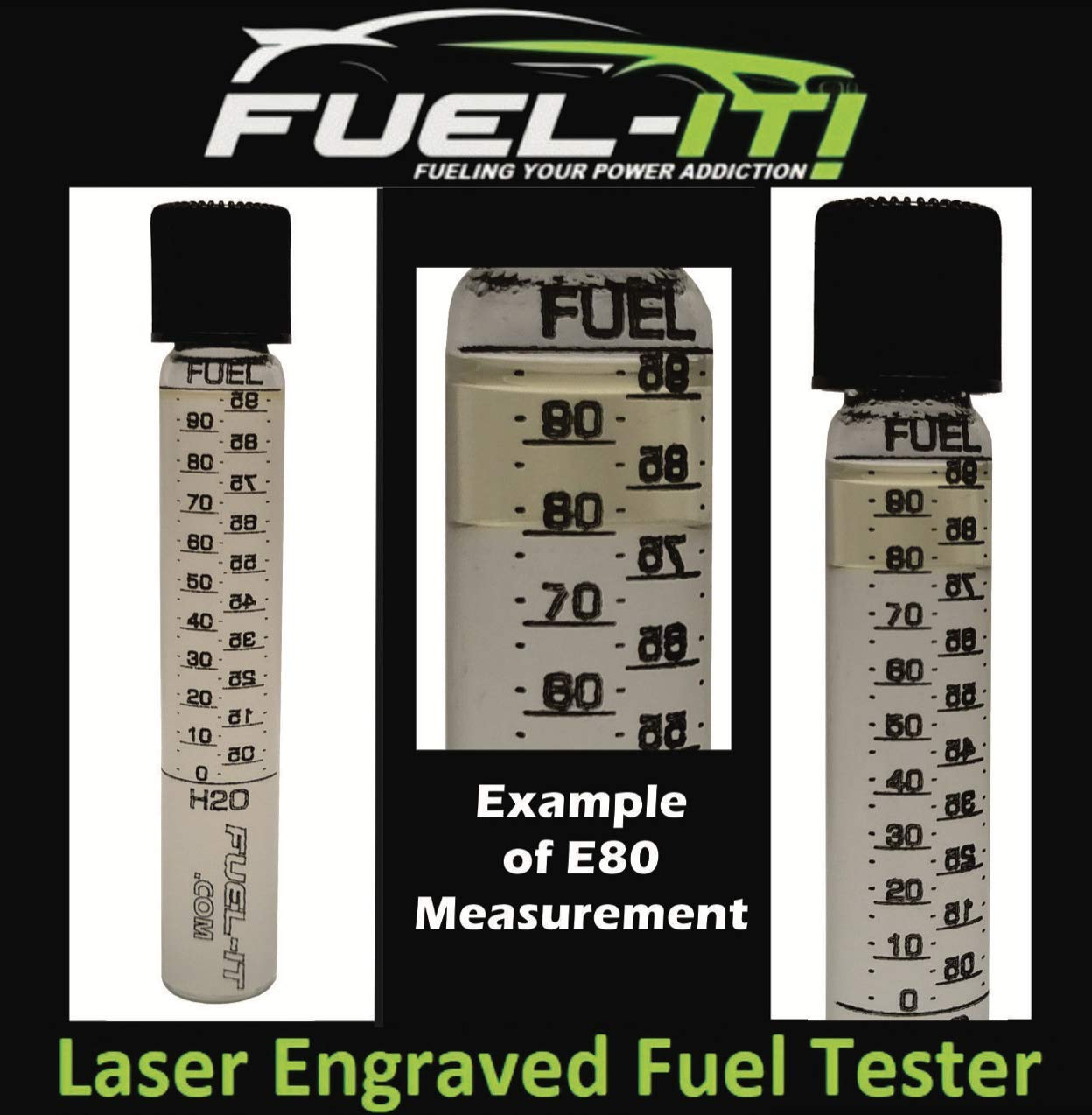 Glass Laser Etched Ethanol Content Fuel Tester for Ethanol, E85, Gasoline by Fuel-It! (Image #2)