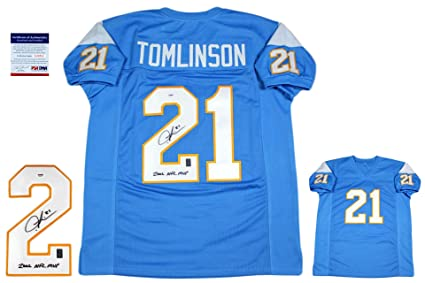 competitive price 1d884 6c3b5 Ladainian Tomlinson Autographed SIGNED Jersey - PSA/DNA at ...