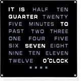 """LED Wall Word Clock 12"""" x 12"""" - Displays Time As Text"""