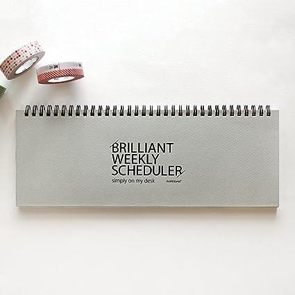 amazon com paperian brilliant weekly scheduler wirebound undated
