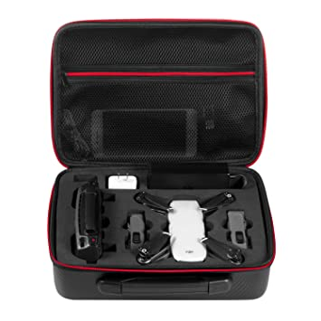 Deyard Waterproof Case for DJI Spark Drone Portable Hand Bag Carrying  Suitcase for DJI Spark Drone 76feeb3d8f34
