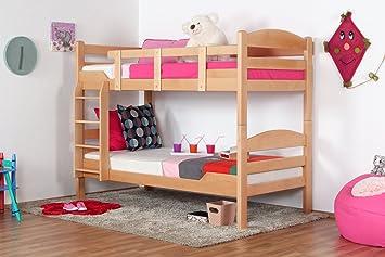 Etagenbett 180 90 : Kinderbett etagenbett pauli buche vollholz massiv weiß lackiert