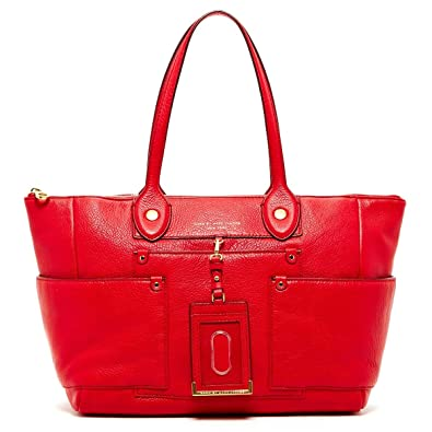 ed39e5b716c5 Amazon.com  Marc by Marc Jacobs East to West Leather Large Tote Bag - Rosey  Red  Shoes