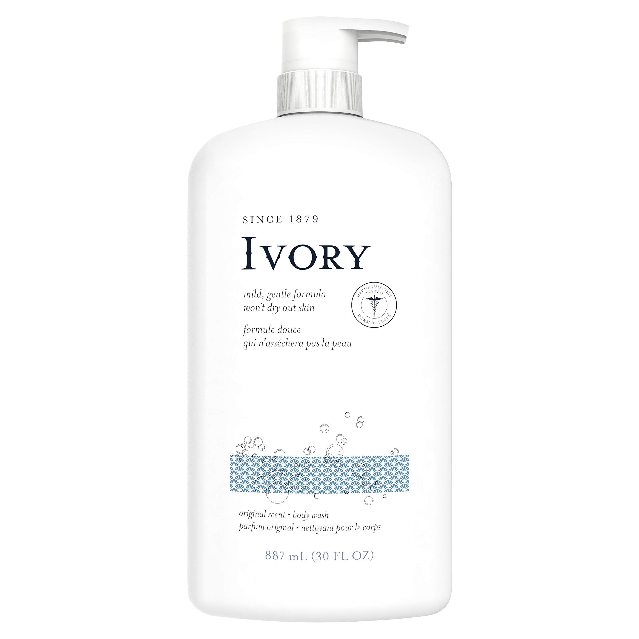 Ivory Body Wash Original Scent 30 oz, Pack of 4