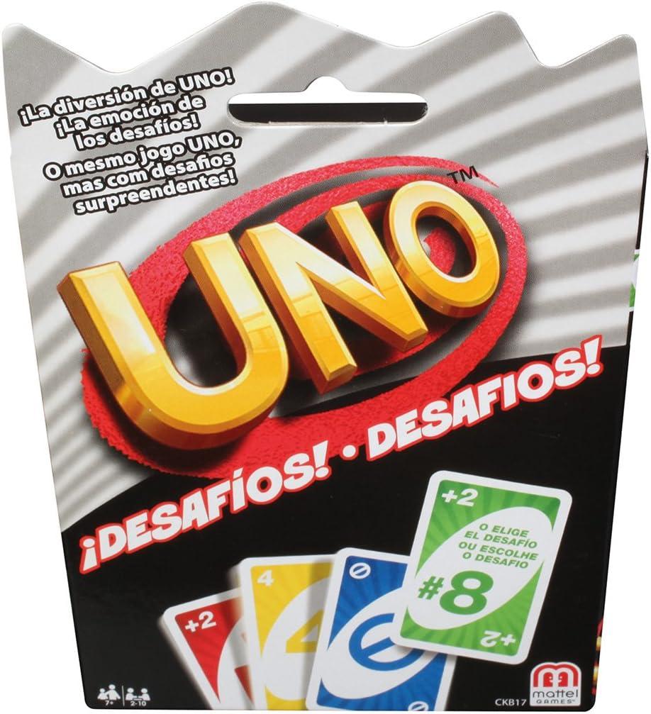 Mattel Games - UNO Desafíos, Juego de Mesa (CKB17): Amazon.es ...