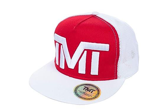 TMT Cappello Retina Trucker Visiera Piatta Rosso Cappellino Estivo Rapper Baseball  Snapback 40f85d5dfd6e
