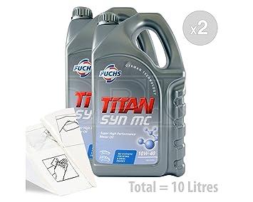 Fuchs Titan Syn MC 10 W-40 Aceite de motor de alto rendimiento semi-synthetic - Service Pack: 10 litros: Amazon.es: Coche y moto