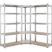 Monzana Stellingkast hoekkast - Set van 3 kasten - 15 planken - opbergrek