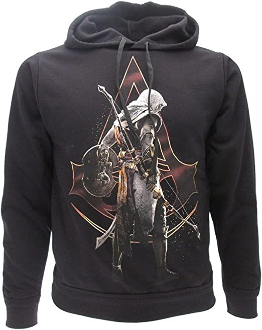 Sweats A Capuche Homme Noir Noir Assassins Creed Sweat Shirt A Capuche Fantaisie Sweats A Capuche