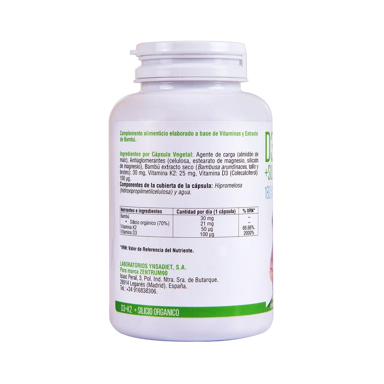 Vitamina D3, vitamina K2 y silicio orgánico para el mantenimiento ...