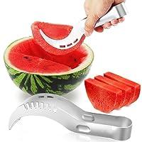UBEGOOD Taglia Anguria, Anguria Affettatrice Acciaio inossidabile watermelon slicer Veloce e Facile da Usare Taglia Affetta e Servi Anguria Fetta Melone Cantalupo
