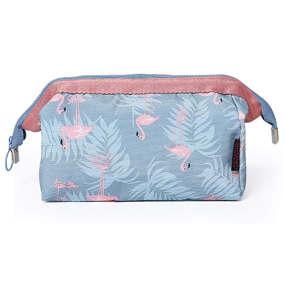 Yansion Pochette Cosmetici Borsa Beauty Case Trousse Make up Borsa Borsa Borsa da viaggio portatile Wash Bag impermeabile Borsa multifunzione Borsa di moda Flamingo per le donne ragazze.