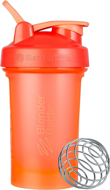 BlenderBottle Classic V2 Shaker Bottle, 20-Ounce, Coral