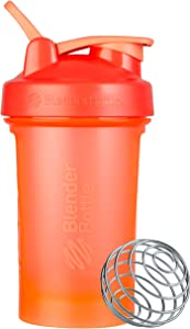BlenderBottle Classic V2 Shaker Bottle, 20-Ounce, Coral