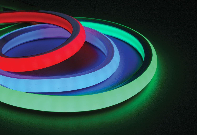 Tira LED Neon Flex RGB (longitud: 5 m, 10 m, 15 m, 24 V, Neon-Flex, sin puntos de luz, luz continua, 12 W/m, RGB LED tiras (Neon Flex RGB 15 metros)