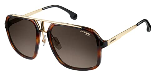 Carrera Men s Ca1004s Aviator Sunglasses, Havana Gold Brown Gradient, ... bd2df43f5b2b