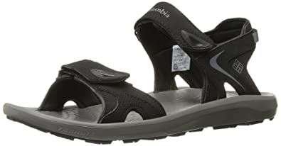 Columbia Men's Techsun Sport Sandal, Black, Titanium MHW, 10 Regular US