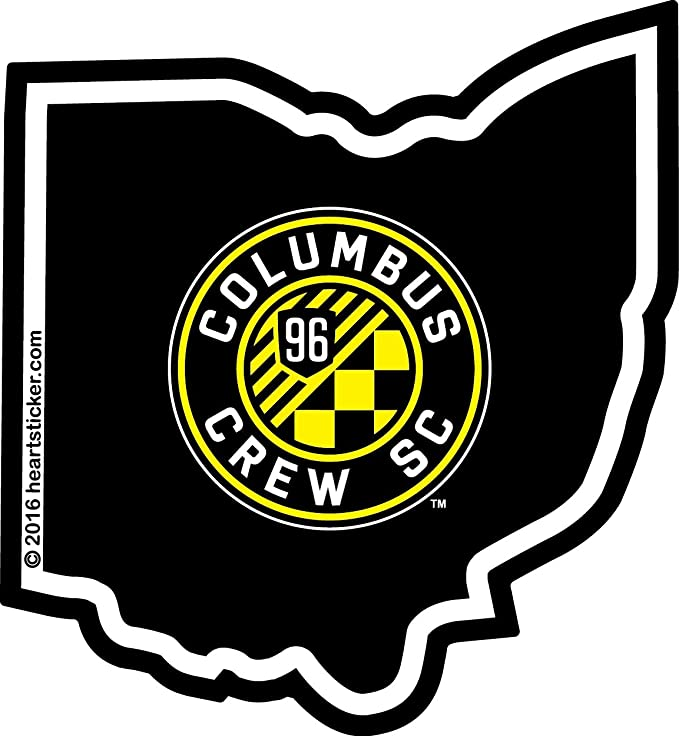 Columbus Crew #3 MLS Team Logo 1 Color Vinyl Decal Sticker Car Window Wall