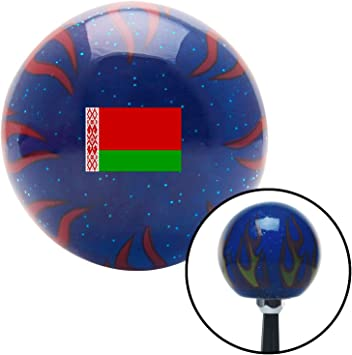 Belarus Blue Flame Metal Flake with M16 x 1.5 Insert American Shifter 310392 Shift Knob
