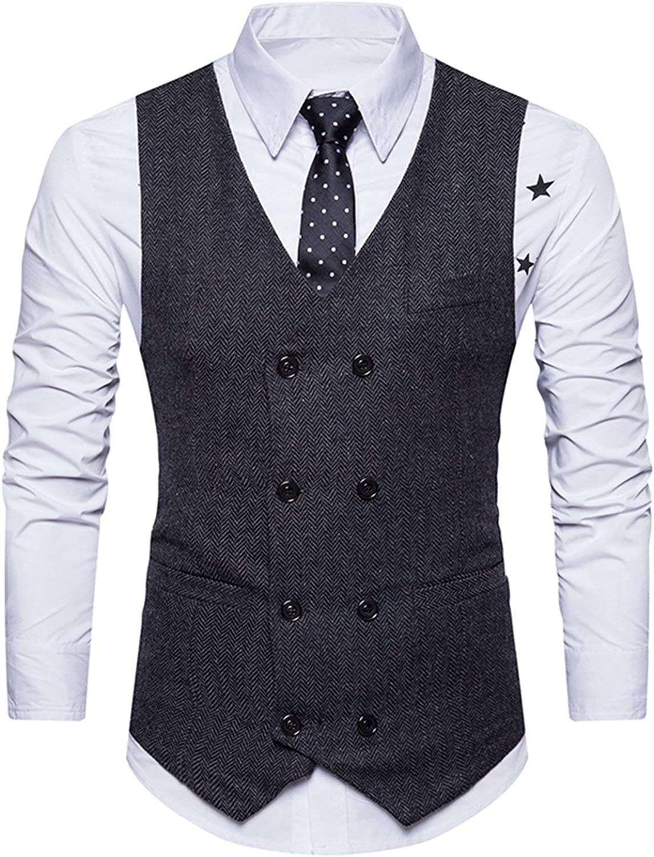 STTLZMC Homme Gilet Costume Veste Slim Fit sans Manches Business Mariage M-XXL