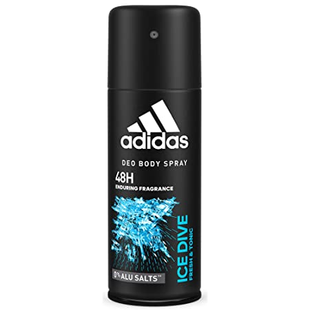 Adidas Ice Dive Deodorant 5 Fl Oz / 150ml Spray Developed with Athletes & Cool Tech Fresh 24 Hour Boost