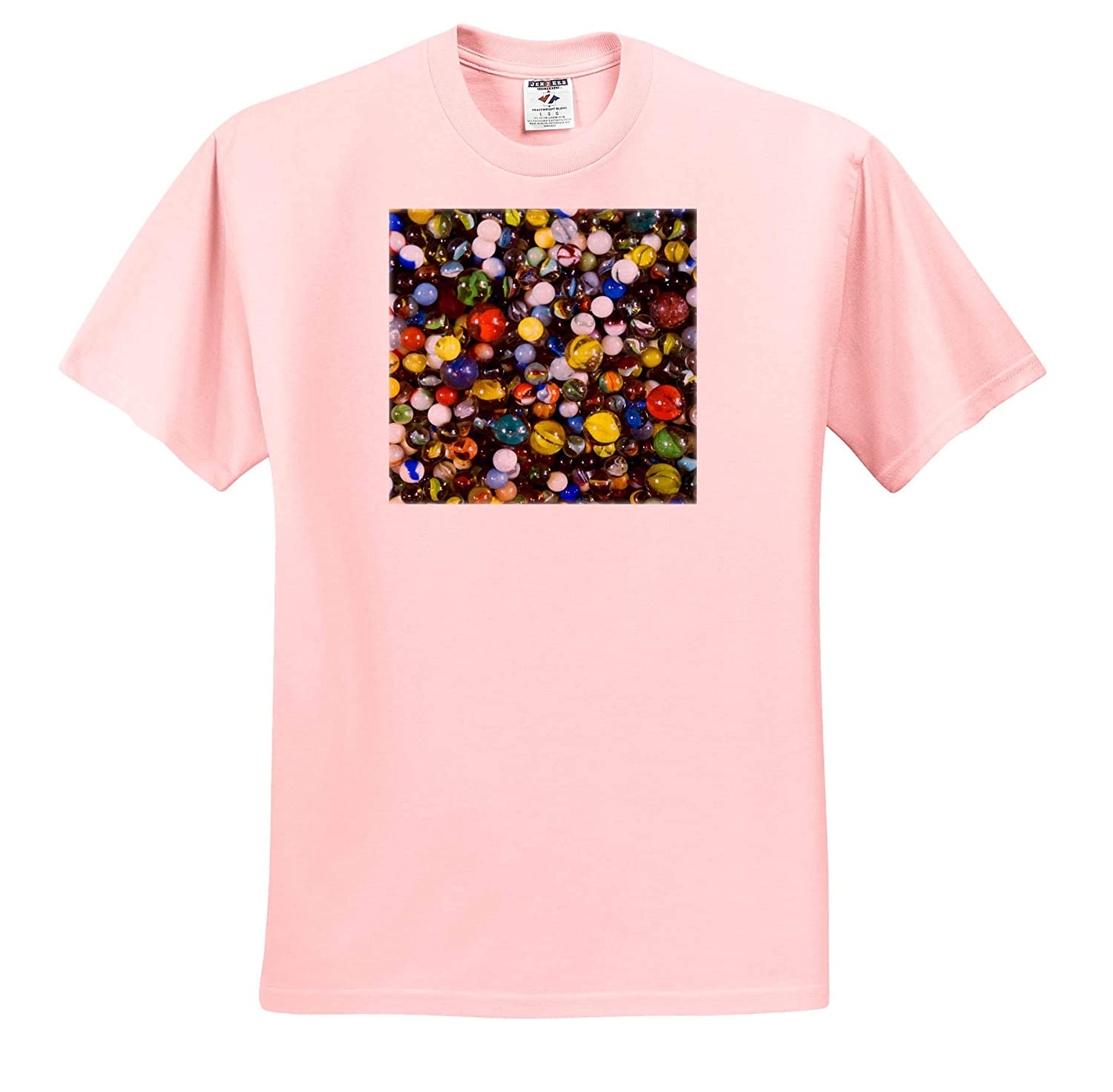 - Adult T-Shirt XL ts/_314955 Abstracts 3dRose Danita Delimont Pile of Glass Marbles