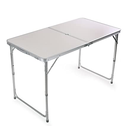 Image Unavailable Image Not Available For Color Portable Height Adjustable Aluminum Folding Camping Table Ft Acft1