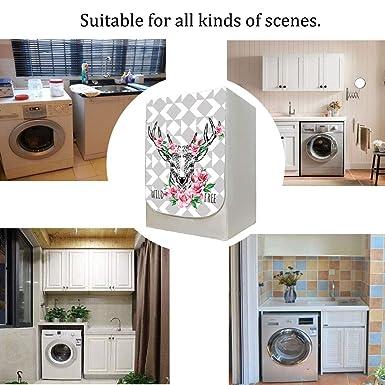 AKEfit 1 piezas de la lavadora Cubiertas delanteras Lindo alce ...