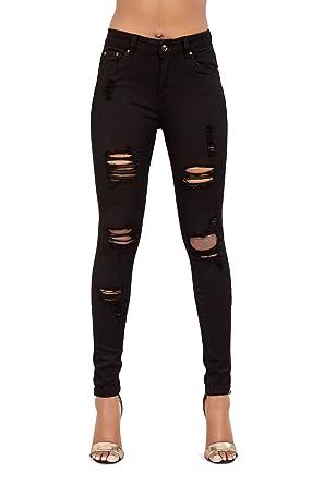 schwarze jeans stretch damen