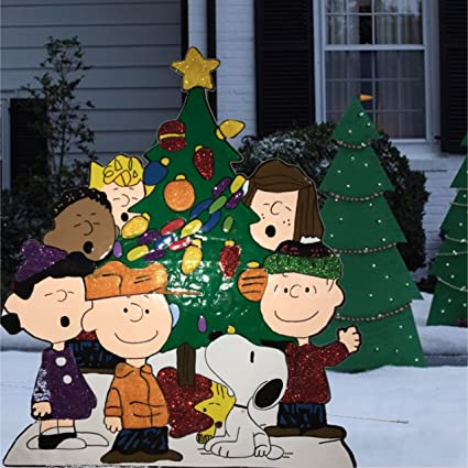 peanuts gang around the tree christmas decoration