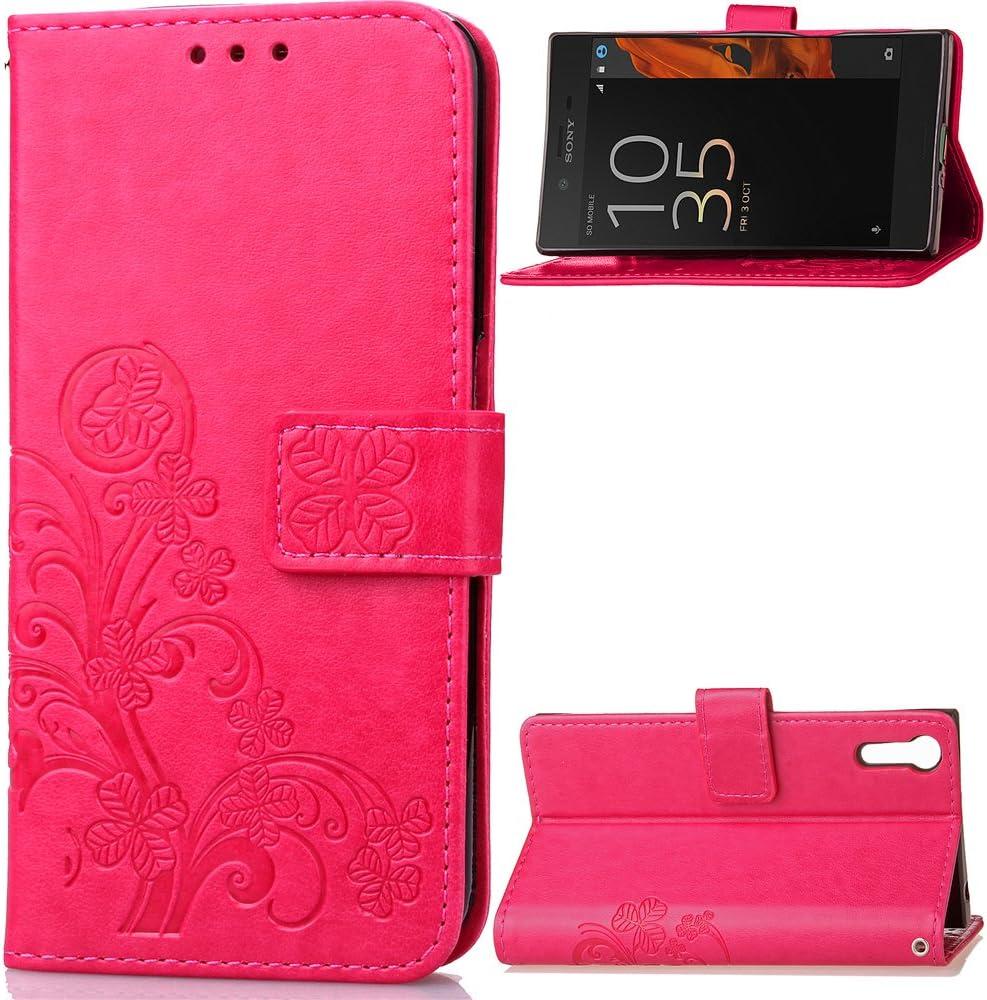 Housse en Cuir avec Porte Carte Fermeture par Rabat Aimant/é Antichoc /Étui Case pour Sony Xperia XZ//XZs Lomogo Coque Sony Xperia XZ//XZs Portefeuille LOSDA041587 Gris