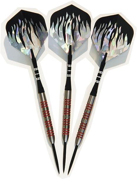 95/% Tungsten Steel Tip Darts Set Professional Darts 22//24 Grams 3 pcs