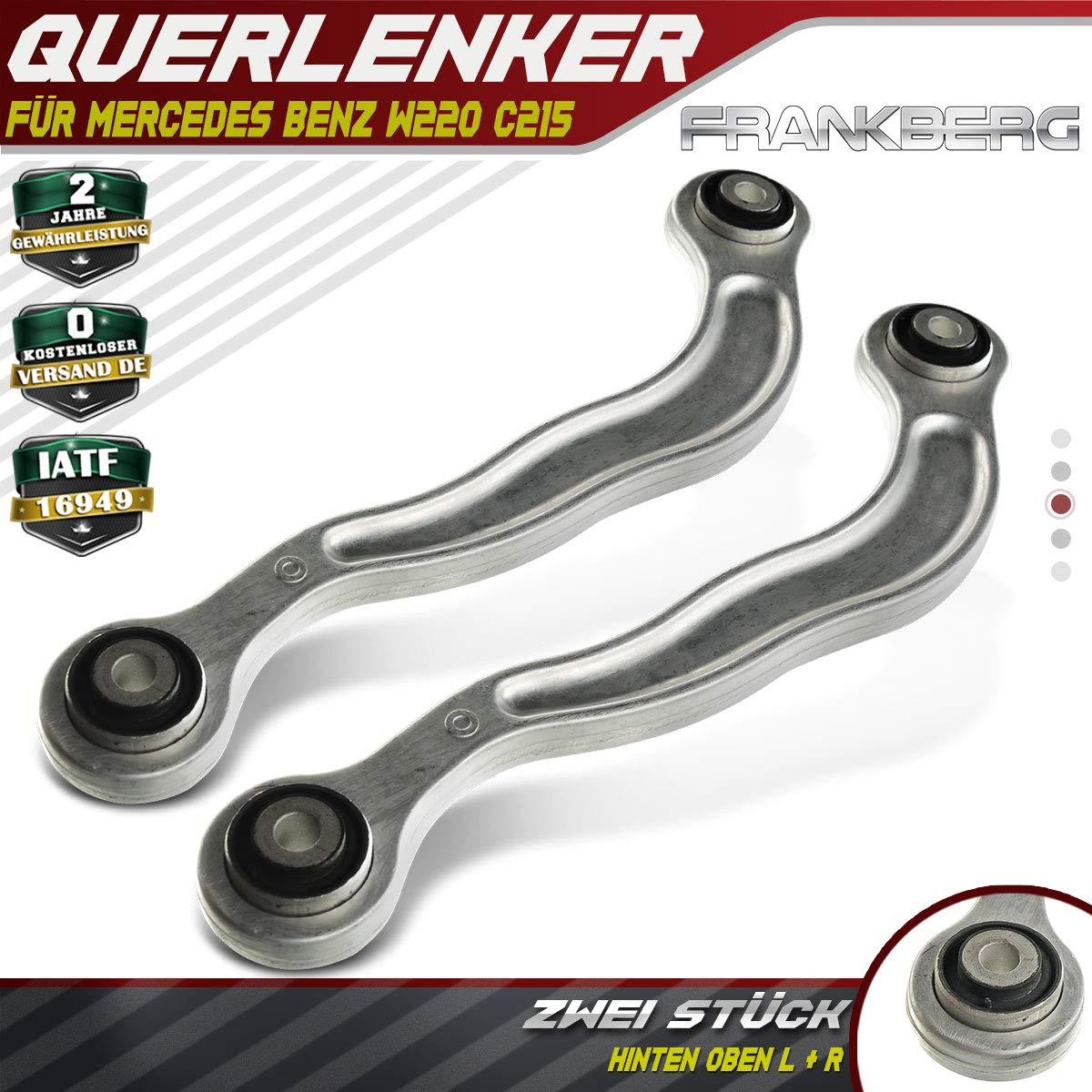 2x Radaufh/ängung Querlenker Lenker Hinten Oben L und R f/ür S280 S320 S350 S400 W220 C215 1998-2005 2203502406