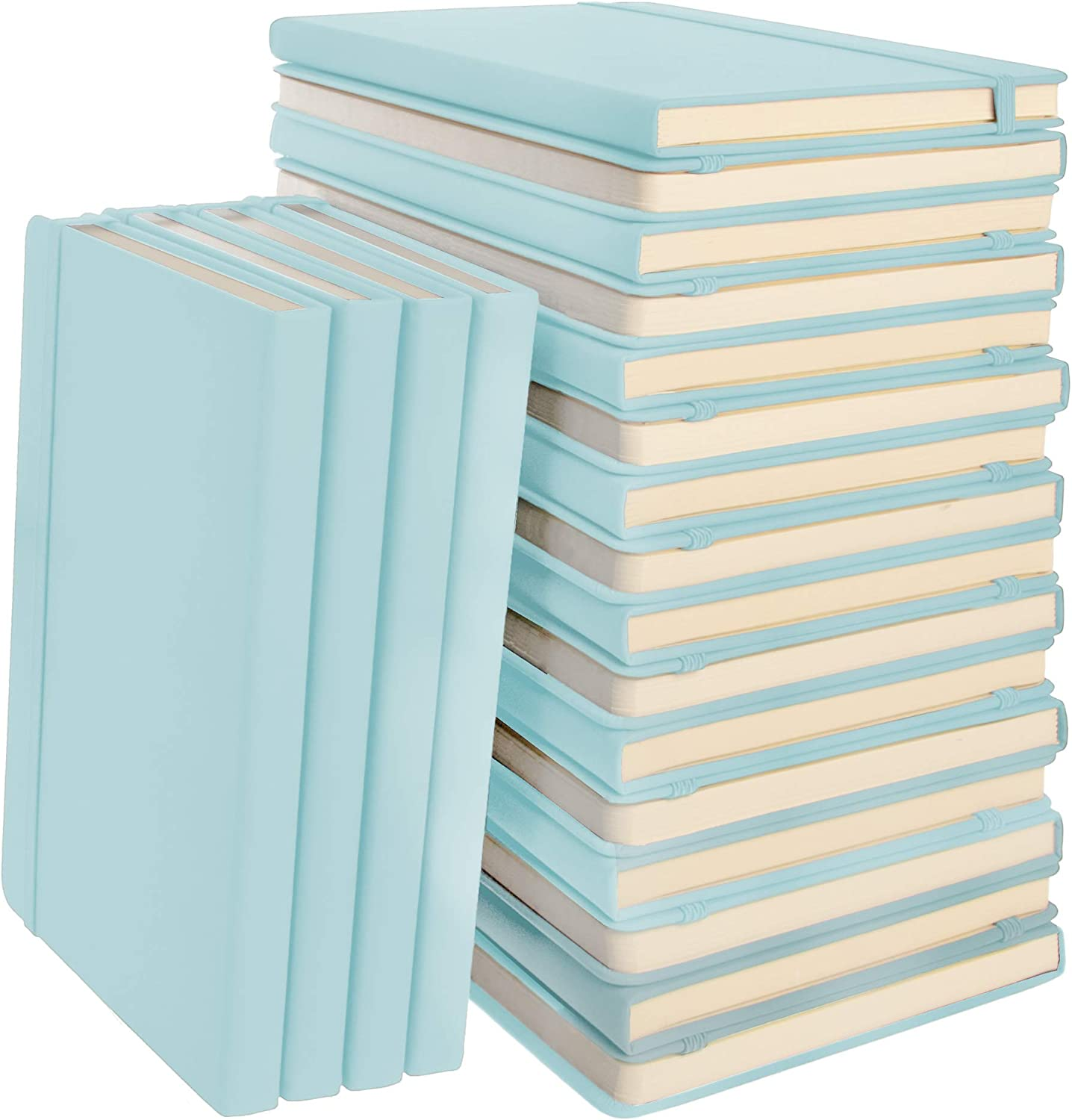 Simply Genius (20 Pack) A5 Hardcover Bullet Notebooks Dotted Grid Notebook/Journal, Leatherette Dotted Bullet Grid Journal, 192pg Dot Grid Notebook, 5.7 x 8.4 Inches, Light Blue