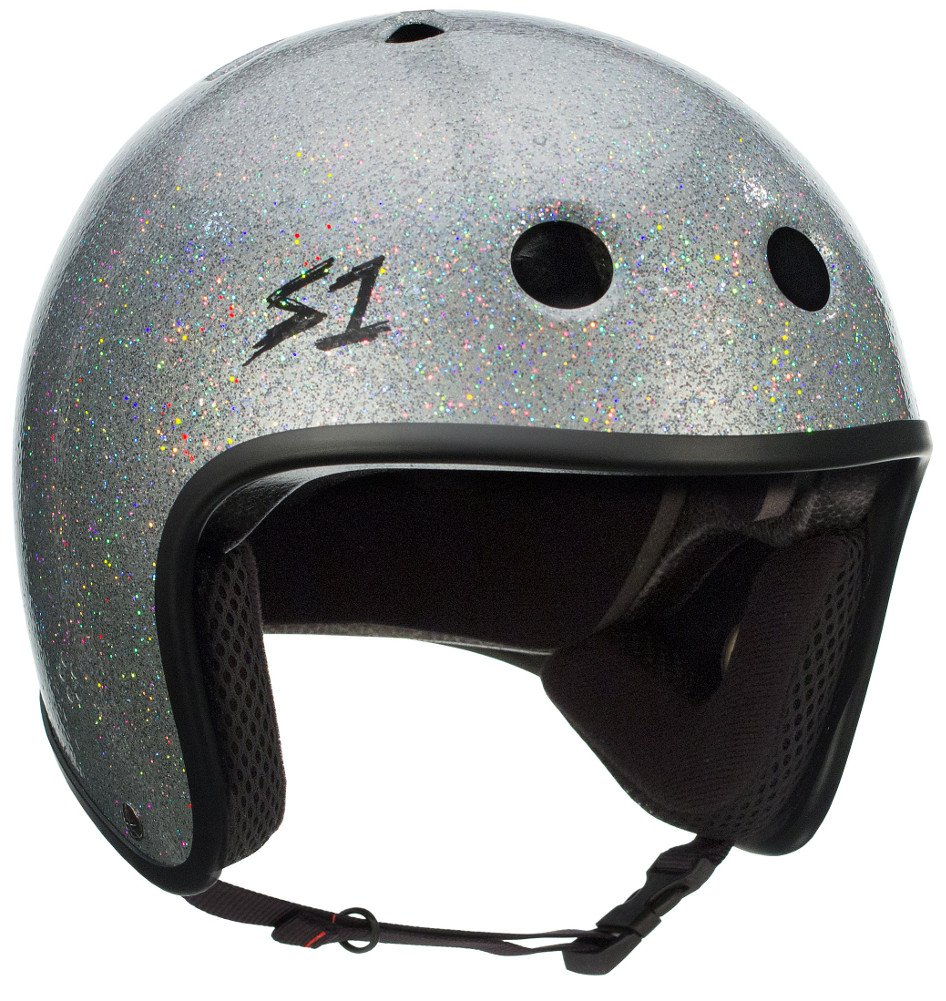 S-ONE Retro Lifer CPSC - Multi-Impact Helmet -Silver Glitter - XX-Large (23'') by S-ONE (Image #1)