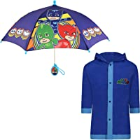 PJ Masks boys Kids umbrella and Slicker, Pj Masks Rainwear Set for Boys Age 2-5