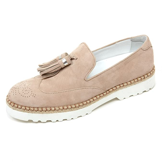 C8078 mocassino nappine donna HOGAN H311 pantofola nappine mocassino beige slip on shoe woman 1c5516