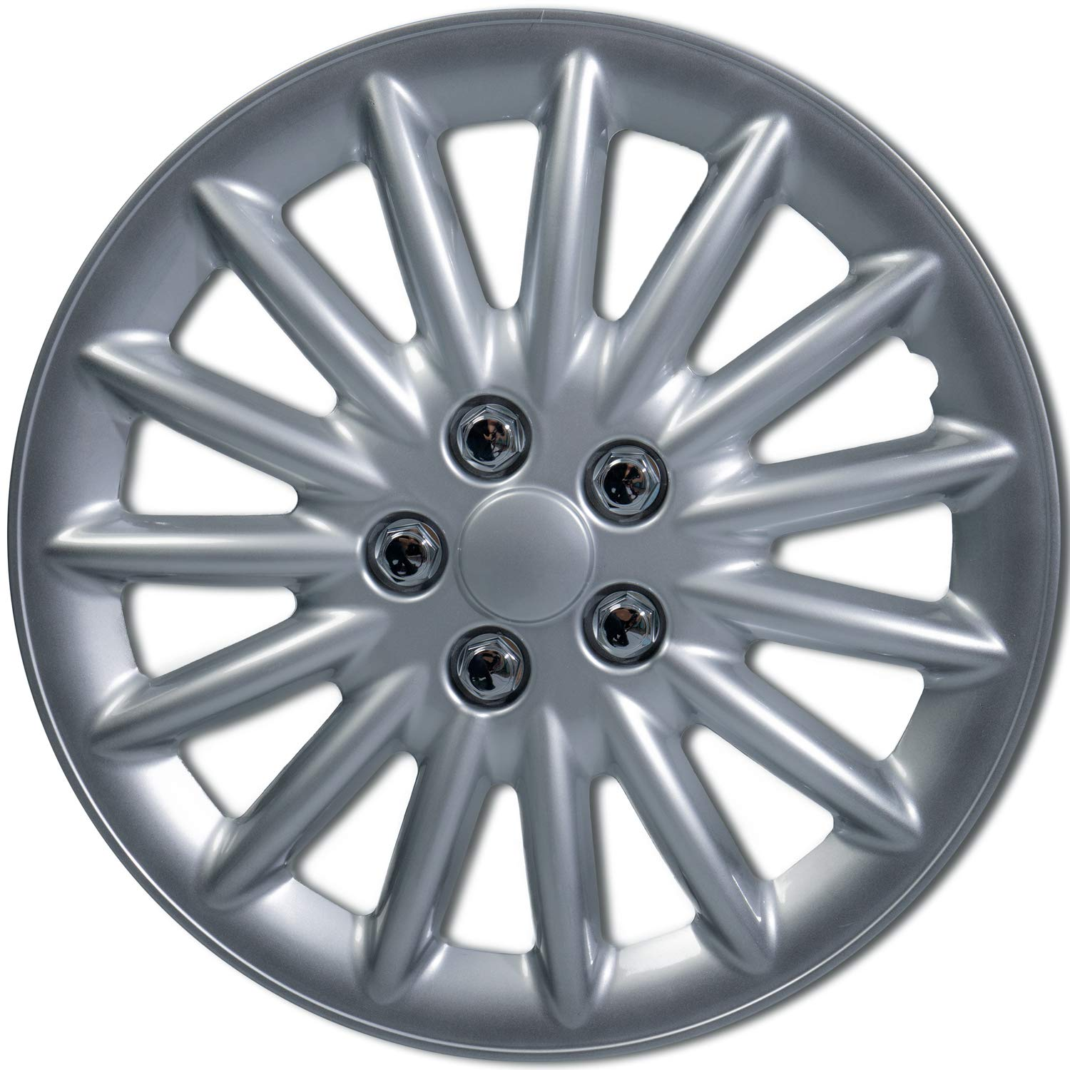 16 inch Hubcaps Best for 2011-2016 Toyota Corolla Set of 4 Wheel Covers 16in Hub Caps SIlver Rim Cover - Car Accessories for 16 inch Wheels - Snap On Hubcap, Auto Tire Replacement Exterior Cap