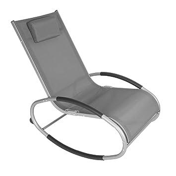 Schwingliege Aluminium Sonnenliege Liegestuhl Gartenliege Relaxliege bis 160kg