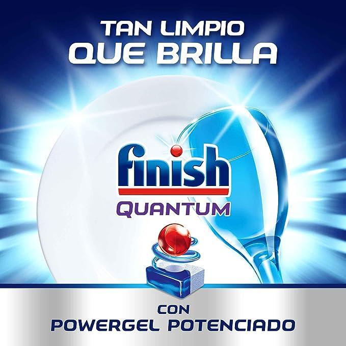 Finish Quantum Regular Pastillas para Lavavajillas, 40 pastillas ...