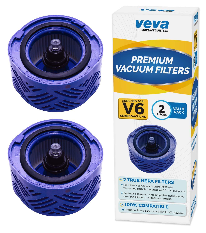 売り切れ必至! VEVA 2 B07KK2SVJC プレミアム真空HEPAフィルターセット Vacuums対応 Dyson 2 V6 Absolute Vacuums対応 フィルターパーツ# 966741 B07KK2SVJC, エニワシ:ab3e67c8 --- ciadaterra.com