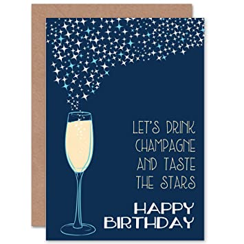 GREETINGS CARD BIRTHDAY GIFT CHAMPAGNE FRIEND CP2803
