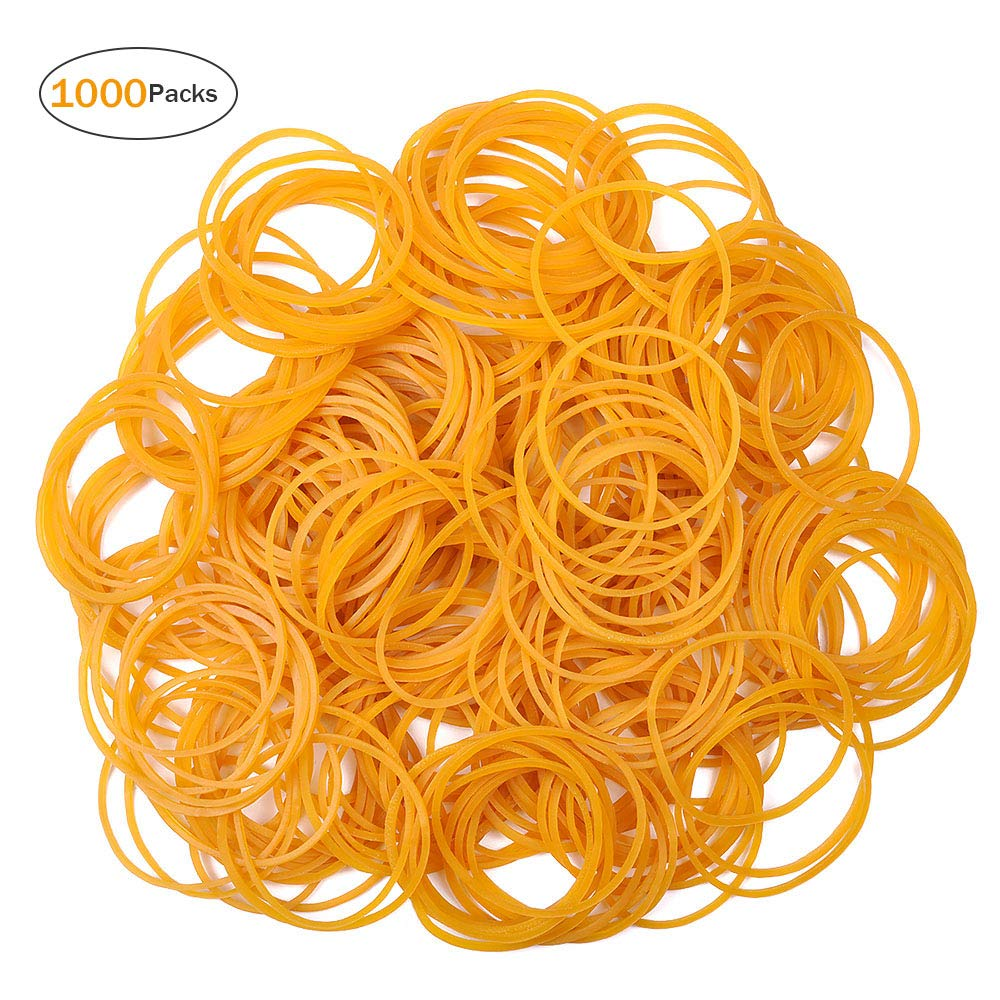 Rubber Bands, UCEC 1000PCS Large Elastic Stretchable Bands for Office Home School Bank Supplies