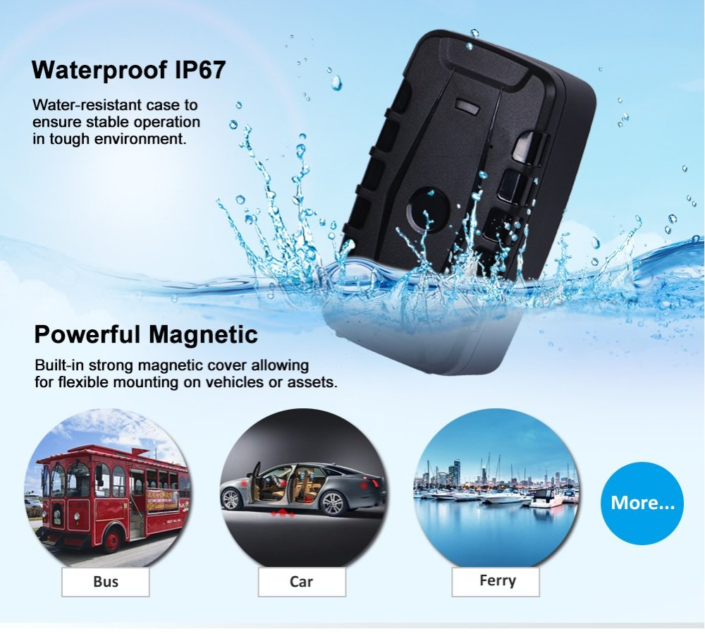 3G GPS Tracker Car Tracking Device Vehicle GPS Tracker Magnetic WIFI GPS Locator 20000mAh Battery Waterproof IP67 Prazata (3G Tracker 20000mAh Battery) by Prazata (Image #5)